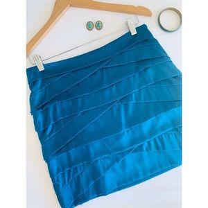 Diane Von Furstenberg 🌸 Silk Teal Tiered Skirt
